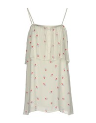 Girl By Band Of Outsiders Short Dresses Ivory