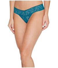 Hanky Panky Petite Signature Lace Low Rise Thong Moodstone Green Women's Underwear