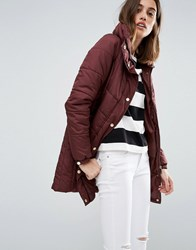 Vero Moda Funnel Neck Padded Coat Chocolate Brown