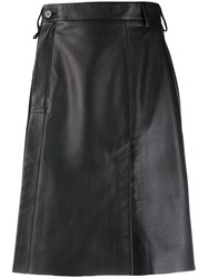 Acne Studios Wrap Front Leather Skirt 60