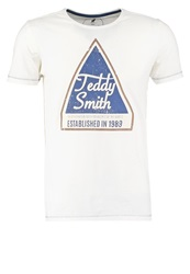 Teddy Smith Print Tshirt Whisper White