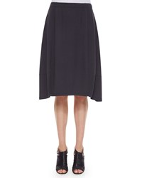 Eileen Fisher Knee Length Jersey Lantern Skirt Black