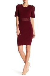Alexia Admor Short Sleeve Knit Dress Red