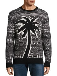Diesel Wall Palm Nylon And Wool Blend Sweater Black