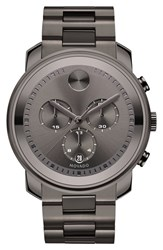 Men's Movado 'Bold' Chronograph Bracelet Watch 44Mm Gunmetal