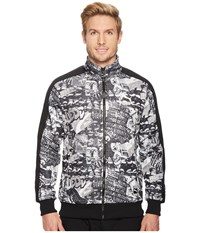 Puma T7 Track Jacket Graffiti Grey Scale Print Coat Multi