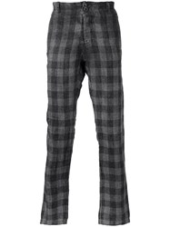 Transit Checked Trousers Grey