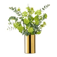 Lsa International Flower Cylinder Vase Lantern 25Cm Gold