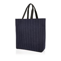 River Island Mens Navy Pin Stripe Reversible Shopper Bag