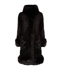 Elie Saab Embroidered Fur Trim Coat Female