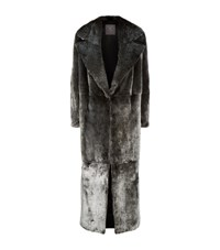 Lilly E Violetta Long Mink Fur Coat Grey