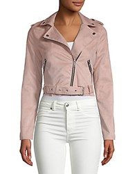 Candc California Zip Belted Jacket Mauve