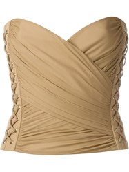 Balmain Bustier Top Nude And Neutrals