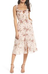 Ali And Jay Atwater Village Midi Dress Blush Vintage Bouquet