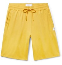 Reigning Champ Loopback Pima Cotton Jersey Drawstring Shorts Yellow