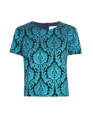 Marques Almeida Short Sleeved Brocade Top