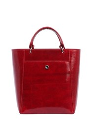 Elizabeth And James Small Eloise Patent Leather Tote Bag Red