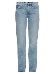 Helmut Lang High Rise Straight Leg Jeans Denim
