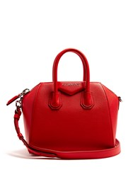 Givenchy Antigona Mini Leather Cross Body Bag Red