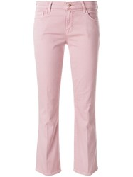 J Brand Selena Mid Rise Crop Boot Jeans Pink And Purple