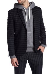 Antony Morato Stripe Two Button Notch Lapel Suit Separates Sportcoat Black