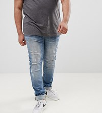 Sixth June Super Skinny Jeans In Mid Wash With Distressing Exclusive To Asos Blue
