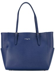 Lancaster Lateral Pockets Shopping Bag Women Leather One Size Blue