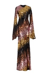 Christian Siriano Ombre Sequin Embroidered Gown Multi