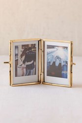Urban Outfitters Amelia Glass Display Frame Gold