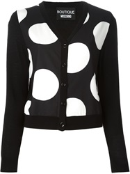 Boutique Moschino Polka Dot Print Cardigan Black