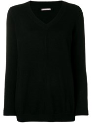 Hemisphere Cashmere V Neck Sweater Black