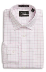 Nordstrom Men's Big And Tall Men's Shop Smartcare Tm Traditional Fit Check Dress Shirt Pink Lavender