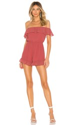 Lovers Friends Quincy Romper In Pink. Rose