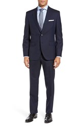Boss Men's Johnstons Lenon Trim Fit Stripe Wool Suit