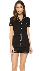 Cosabella Bella Short Sleeve Boxer Pj Set Black