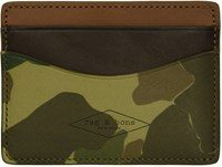 Rag And Bone Green Camouflage Hampshire Card Holder