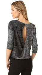 Rag And Bone Mia Long Sleeve Tee Black Heather