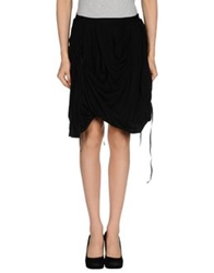 Blayde Knee Length Skirts Black