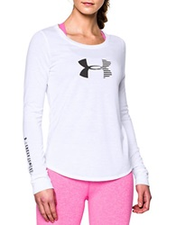 Under Armour Stripe Logo Active Top White