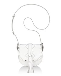 Anne Klein Kate Studded Leather Crossbody Optic White Silver