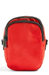 Topshop Storm Nylon Pouch Red