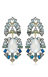 Nak Armstrong Rainbow Moonstone Earrings White