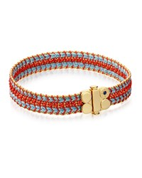 Biography Wide Woven Bracelet Coral Reef Astley Clarke Turquoise