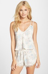 Women's Band Of Gypsies Double Strap Cami Ivory Pink