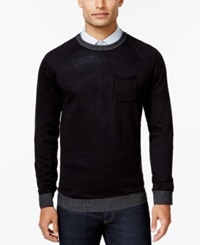 Ryan Seacrest Distinction Pocket Crew Neck Sweater Only At Macy's
