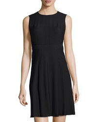 Philosophy Di Alberta Ferretti Chiffon Panel Fit And Flare Dress Black