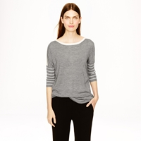 J.Crew Collection Cashmere Drapey Boatneck Sweater In Stripe