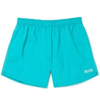 Hugo Boss Short Length Embroidered Shell Swim Shorts Turquoise