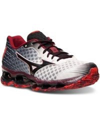Mizuno Men's Wave Prophecy 4 Running Sneakers From Finish Line White Black Red