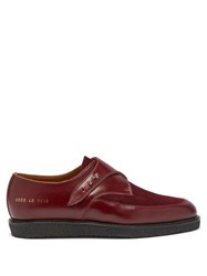 Common Projects Leather And Suede Creeper Loafers Dark Red